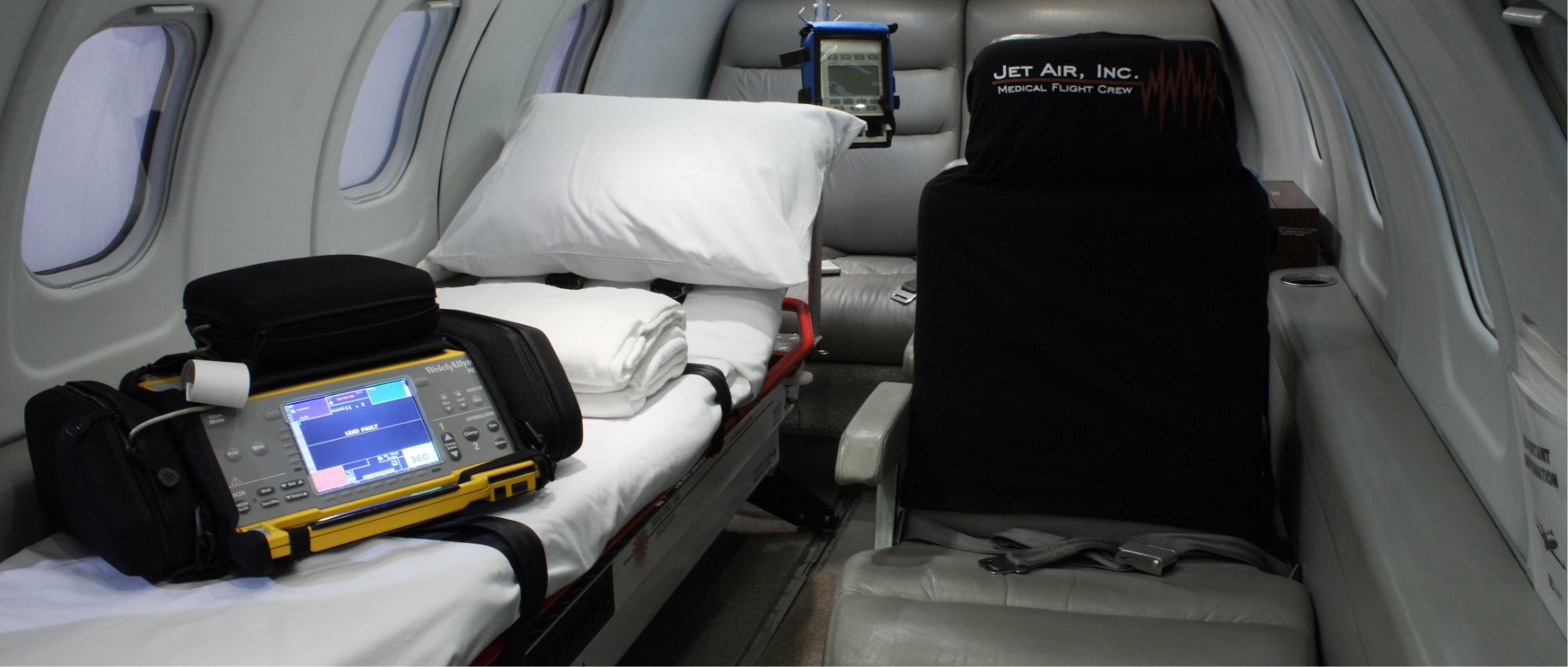 Medical air flight interior